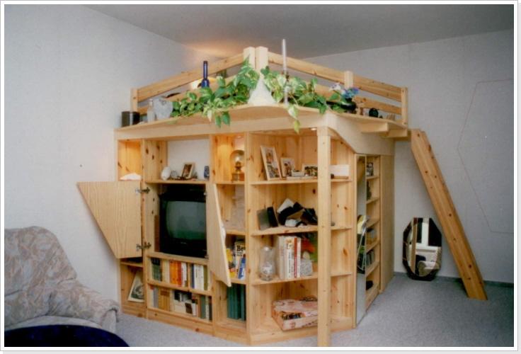 hochbetten incl einbauschr nke. Black Bedroom Furniture Sets. Home Design Ideas